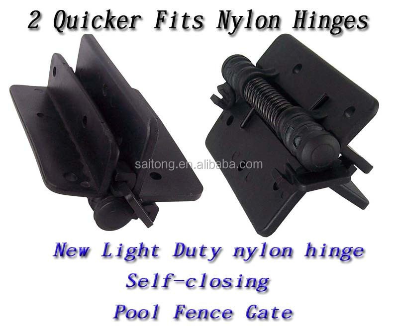 Self Closing Fixed Tension Gate Nylon/plastic Hinge Swimming Pool PAIR