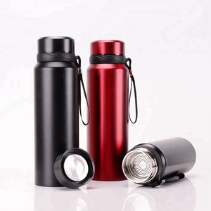 Thermos stainless steel water bottle with tea filter double wall tea thermos vacuum flask travel coffee mug thermos
