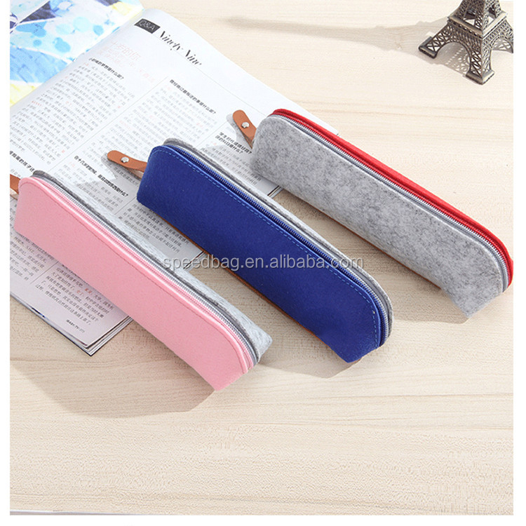 Reversible type customized logo 600D polyester 36/48/72 hole leather edge pencil bag multifunction with pencil bag