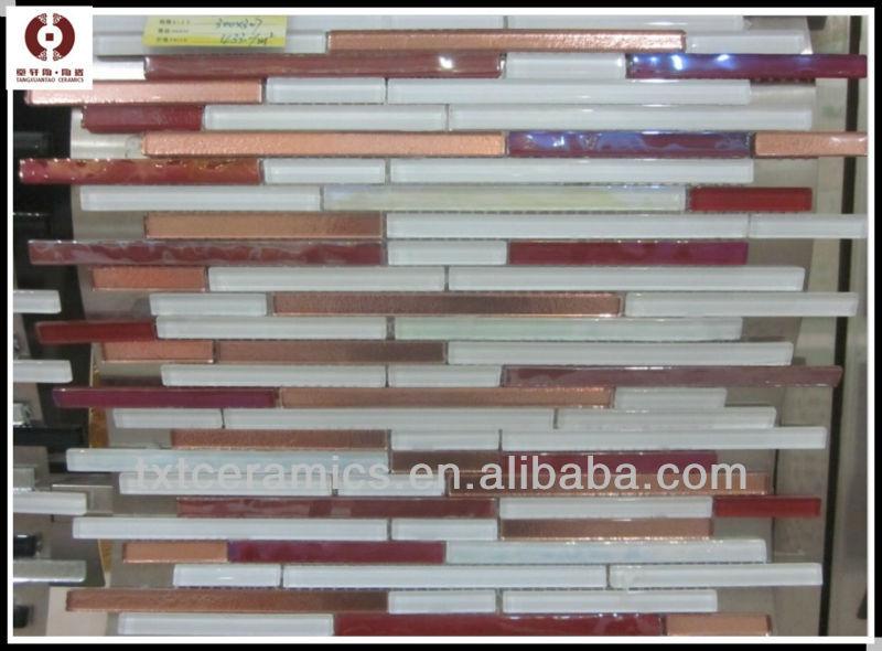 New Strip Wave Glass Mosaic Tile 013c-4