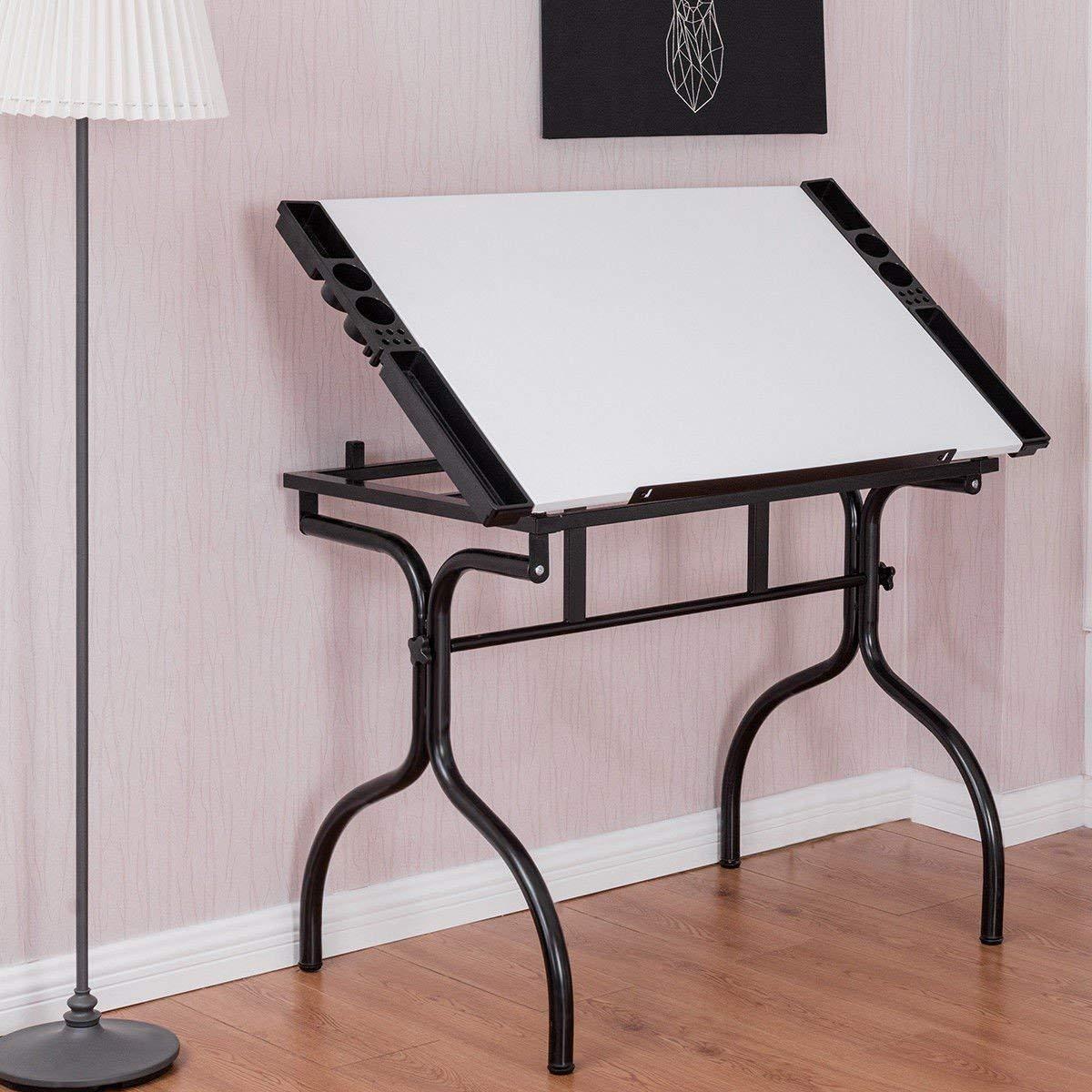 Get Quotations · Custpromo Adjustable Drafting Table Art U0026 Craft Drawing  Desk Folding Drafting Desk