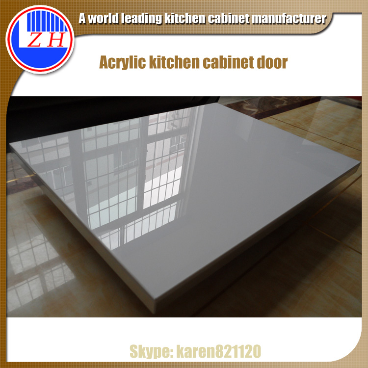 Zhuv Acrylic High Gloss White Kitchen Cabinet Door View High Gloss