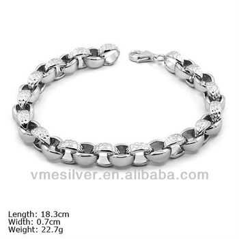 Bsu 0925 Real Pure 925 Sterling Silver Bracelet For Birthday Gift