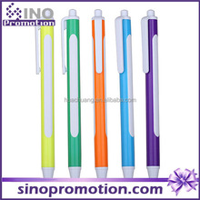 Promotional ballpoint with big blank logo printing area plastic ball pen