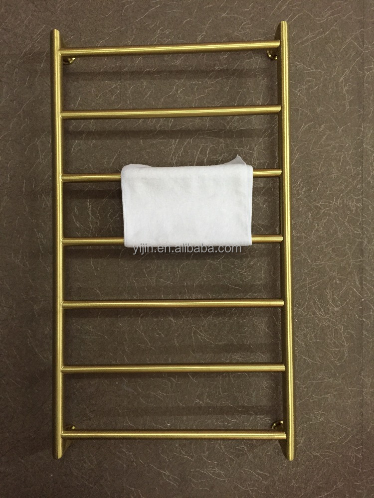 Modern Electroplate Golden S/S Electric Heated Towel warmer rails HZ-925B