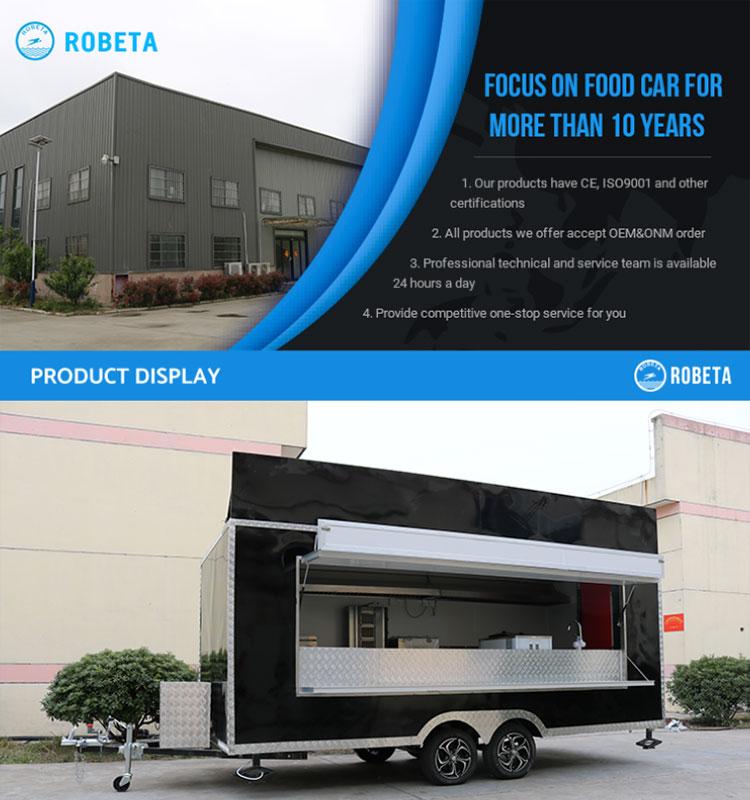Commercio all'ingrosso Prezzo Mobile Hot Dog Food Trucks Mobile Gelato Cibo Rimorchio del Camion Crepe