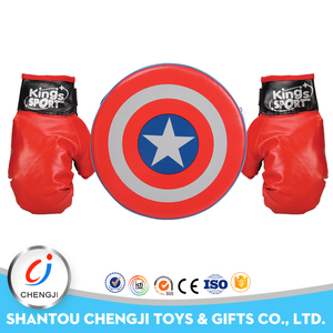 Funny plastic outdoor kids play boxing glove professional