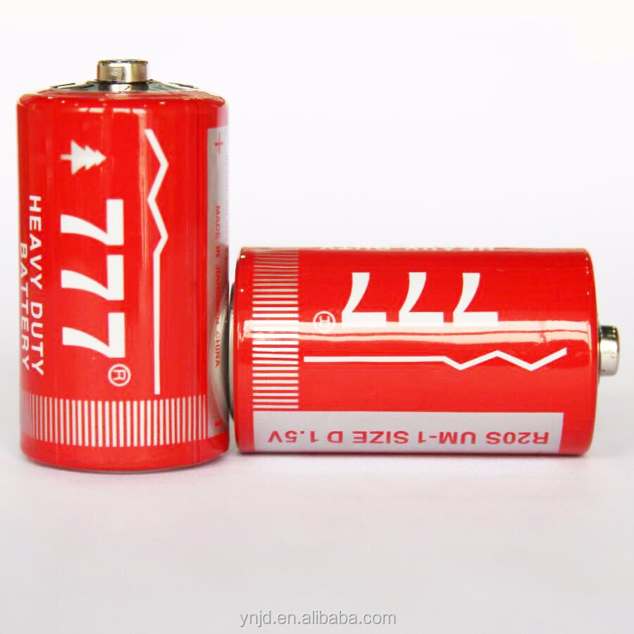 China Factory 777 Dry Battery R20 Alkaline Dry Battery