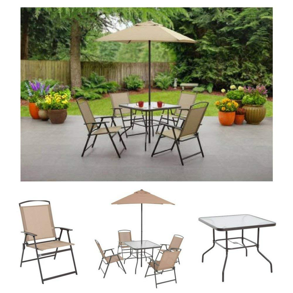 Get quotations · albany lane 6 piece folding dining set by mainstays patio table patio folding