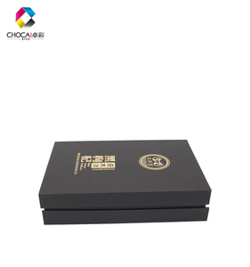 Fashionable Simple Black Magnetic Packaging Box Beautiful Hot Sale Paper 2019 New Design Tea Gift Box