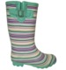 custom-made hot sale stripe colorful print rubber boots wellies