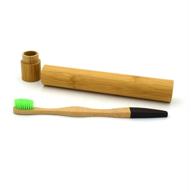 Органическая Бамбуковая зубная щетка с чехлом зубная щетка
