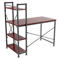 4 Tier Shelves Computer Desk Home Office Study PC Workstation Desktop Laptop Table