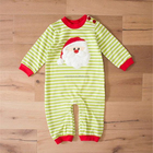 2018 100% knit cotton Embroidery Santa Claus romper baby boy clothing for wholesale Christmas