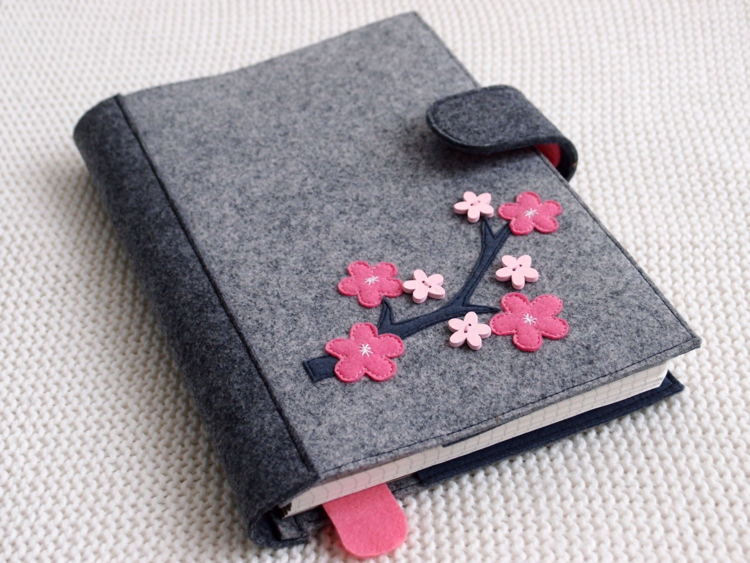 Personalized A4 A5 book felt cover notebook diary holder wool felt booklet cover
