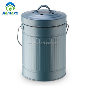 3L 5L middle size trash can/ waste container/garbage bin with colorful coating