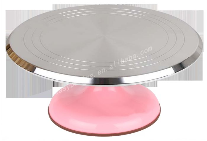 Metal rotating wedding cake stand ice turntable for cake decoration , display.jpg