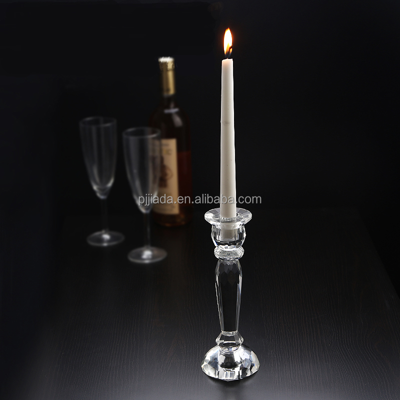 OEM design wedding table centerpieces crystal candle holder candle stand