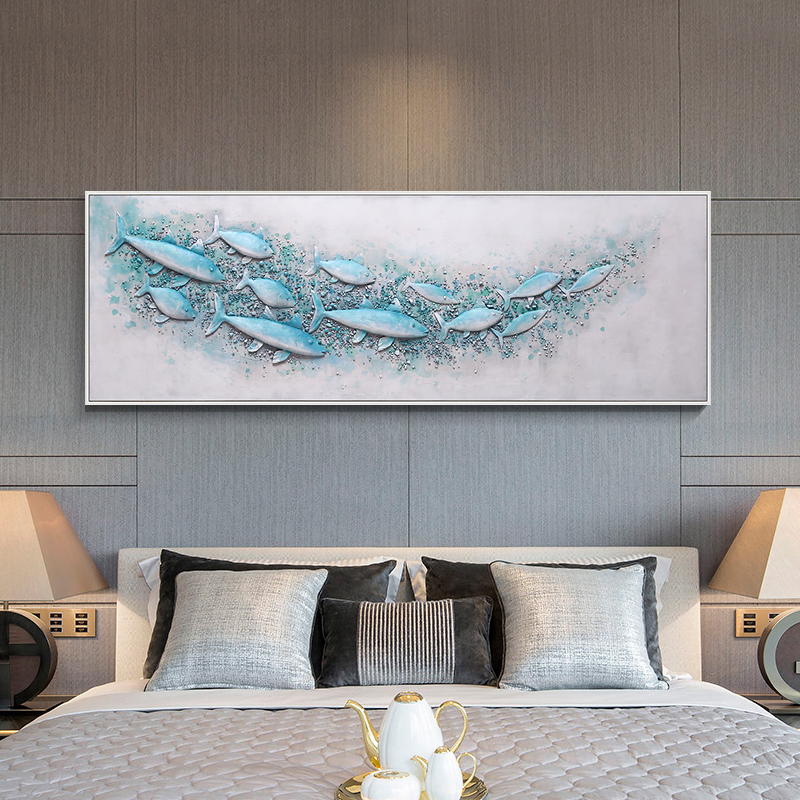 Amazing 3d Resin fish Canvas Oil Painting