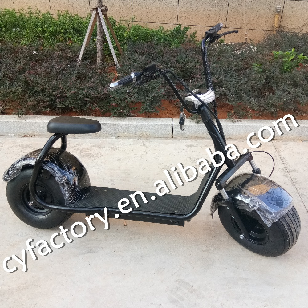 Guangzhou China factory sale electric citycoco scooter with 1500w 60v