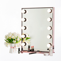 Koncai Jing Pin Hollywood LED Aluminum Mirror With Pure Aluminum Pedestal