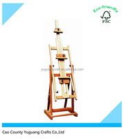 Adjustable Colossal A Frame Easel-Golden Finish Wooden Studio Easel