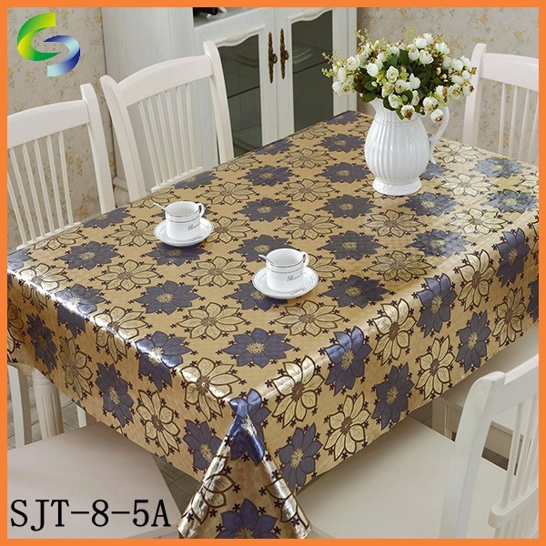 Gold and Sliver Sequin in pvc table cloth