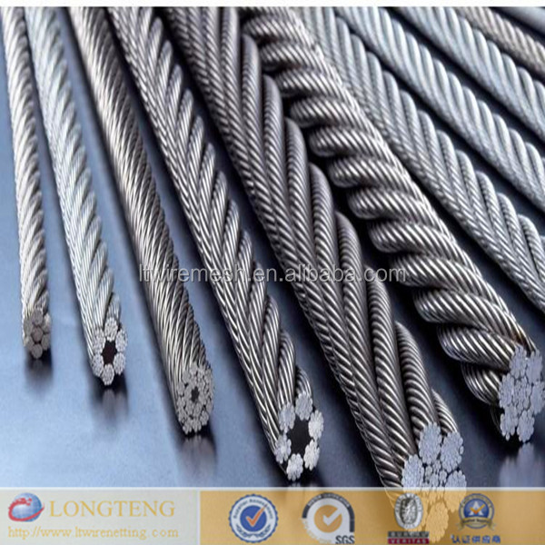 1*2 1*6 1*7 etc twist wire ,steel wire rope ,metal strand wire rope for construction
