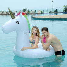 PVC Pool Inflatables Floats Raft Giant Inflatable Unicorn Ring Loungers Swimming Sports Games