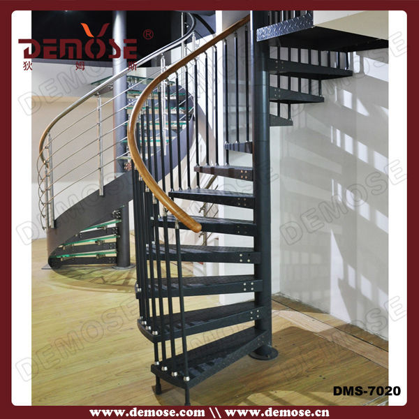 Iron Round Baluster Staircase Handrails