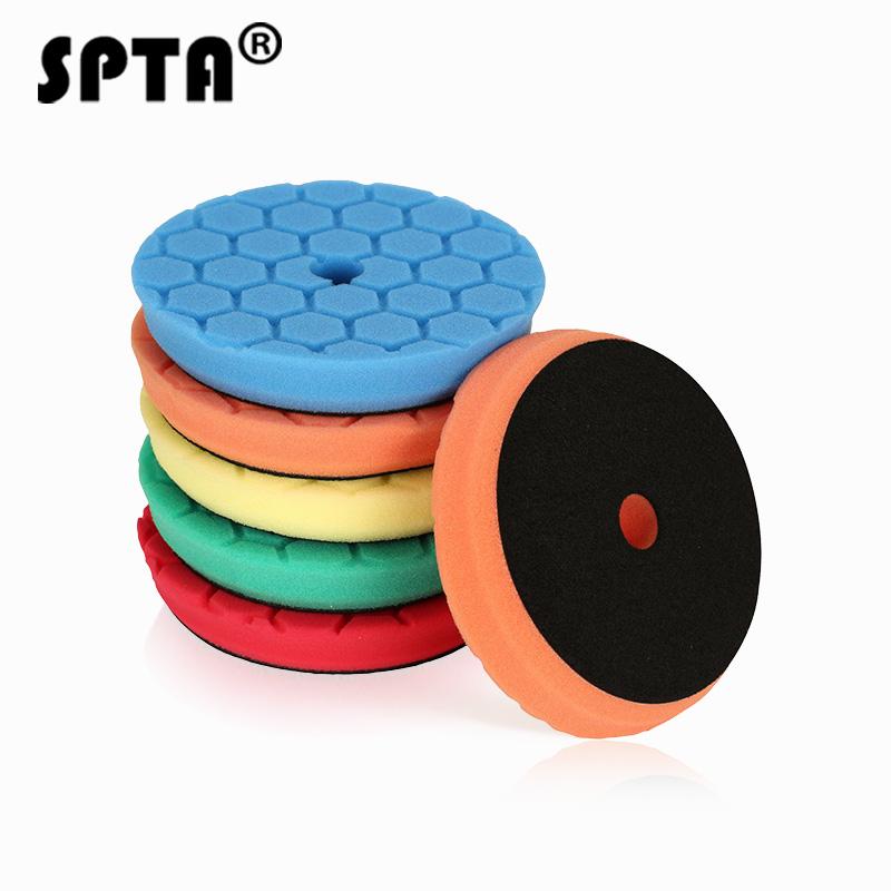 Multi-Color 5pcs 5 Inch Pad Buffing Foam Polishing Sponge Pads For Car Polisher