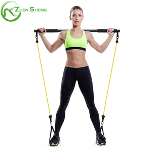 ZHENSHENG resistance latex tubing exercise stick for fitness