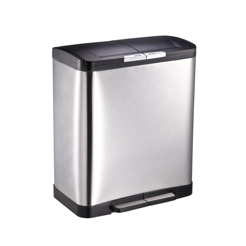 Best selling 50L foot step pedal bin trash can 13 gallon