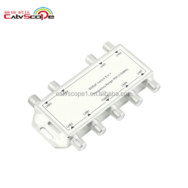 Catvscope Satellite Signal 8 Way In 1 DiSEqC Switch Fiber Optical Equipment Cheap Price High Quality China Export