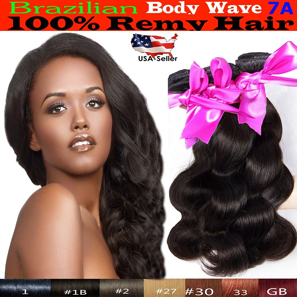 Buy Ustar 3 Bundles Body Wave Virgin Remy Brazilian Hair Extensions
