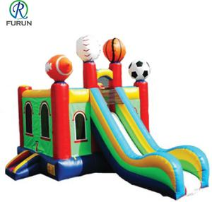 Sport balls bounce house inflatable bouncy jumping with slide