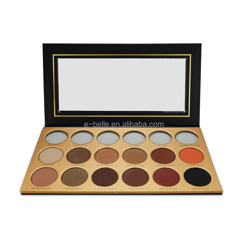 private label makeup water proof 18 color eyeshadow palette