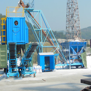 Containerized mobile weighing and bagging machine system
