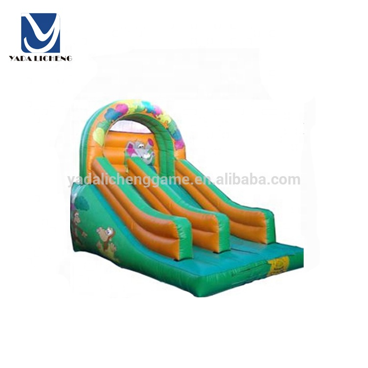 Kids loved grote olifant opblaasbare lucht bouncy slide pretpark apparatuur