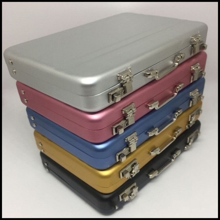Office Suitcase Shape Metal Business Card Case