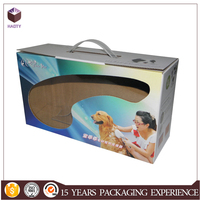 Gift box packaging pet suitcase gift box with handle