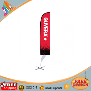 China good products knife shape flag mockup free feather banners flag