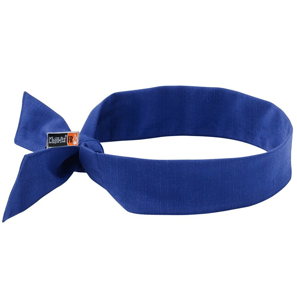 CHILL-ITS FIRE RESISTANT (FR) Cooling Neck Bandana/Headband - Blue - 2 Piece Pack