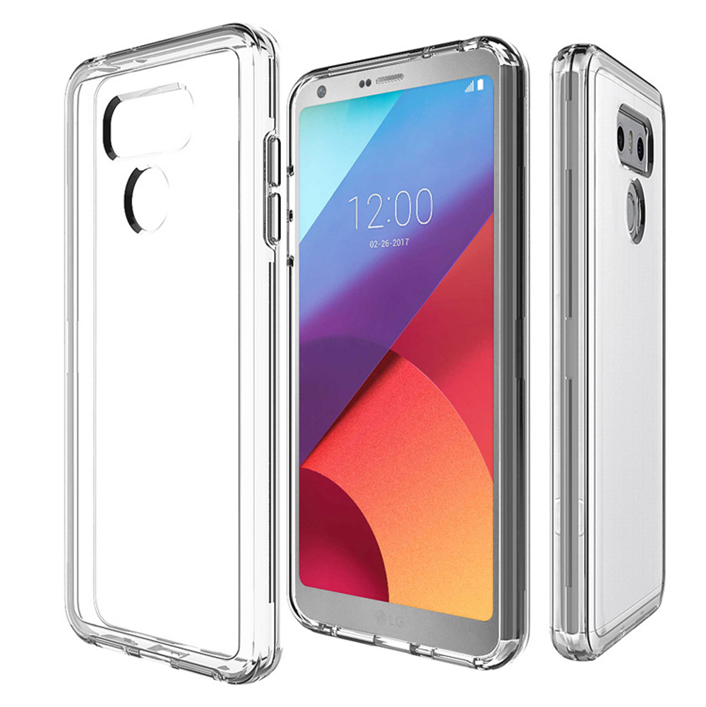 US $6 99 30% OFF|For Coque LG G6 Case Ultra Thin 2 in 1 Hybird Transparent  Clear Hard PC Soft TPU Gel Protective Phone Cover Cases for LG G6 G5-in