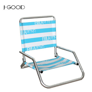 Portable Outdoor Aluminum Tube Frame Low Seat Folding Beach Chair And  Comping Chair - Buy Low Seat Beach Chair,Folding Reclining Camping ...