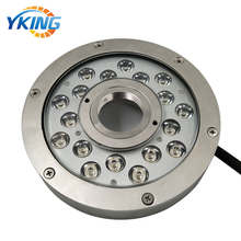 316L Stainless Steel 54W IP68 waterproof 24V RGB Underwater fountain led light round