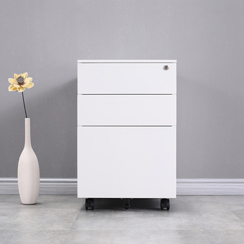 Office furniture Equipment for A4 File steel metal Cabinet moving storage 3 drawers cabinet filing cabinet Mobile Pedestal