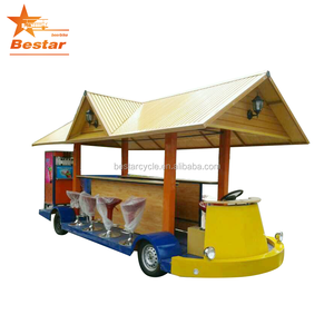 Electric Custom Car / Solar Electric Sightseeing Bus / 15 seats for Party bike
