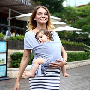 Breathable newborn baby Infant sling wrap sling carrier with OEM services, wrap baby carrier