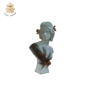 Classic western custom stone girl bust statue for garden decor NTMS-534Y